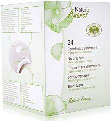 Natural Amarel Organic Cotton Nursing Pads Box 24s