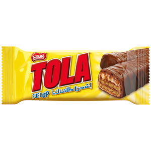 Tola Wrapper 2Finger Crispy Wafer Covered with Caramel and Milk Chocolate 31g