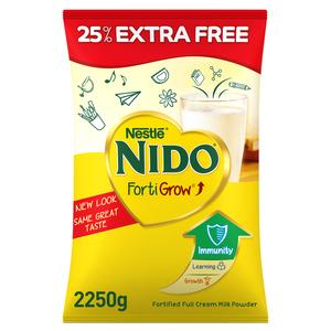 Nestle Nido Fortified Milk Powder Pouch 1800g + 450g