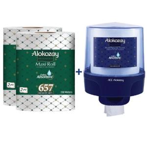 Alokozay Maxi Roll 2Ply + Dispenser 2x657s