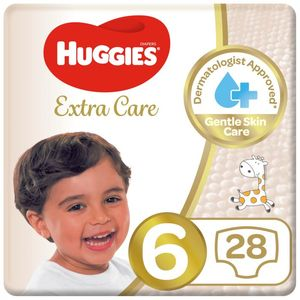 Huggies Baby Diapers Extra Care Size 6 28s