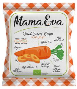 Mama Eva Organic & Gluten Free Crisps Carrots 15g