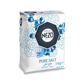 Nezo Salt Fine Blue + Iodized Salt 3x1kg + 125g