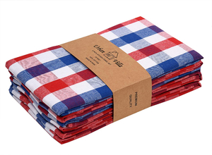 Cannon Kitchen Towel Stripe Tea Rose 5pcs