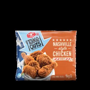 Tegel Frozen Chicken Nashville Style Portion New Zealand 1kg