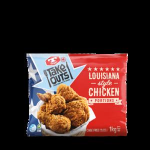 Tegel Frozen Chicken Louisiana Style Portion New Zealand 1kg
