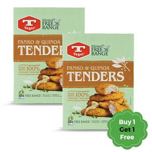 Tegel Panko & Quinoa Chicken Tenders New Zealand 365g +  365g