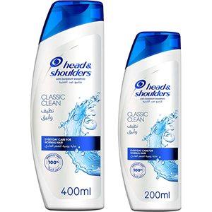Head & Shoulders Classic Shampoo 400ml + 200ml