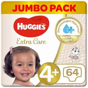 Huggies Extra Care Size 4+ Jumbo 64s