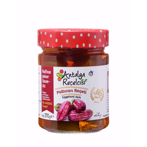 Antalya Recelcisi Eggplant Jam Sugar Free (Seker Ilavesiz Patlican Receli) 370g