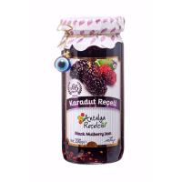 Antalya Recelcisi Black Mulberry Jam Sugar Free (Seker Ilavesiz Karadut Receli) 370g