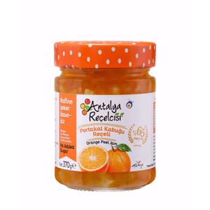 Antalya Recelcisi Orange Peel Jam Sugar Free (Seker Ilavesiz Portakal Kabugu) 370g