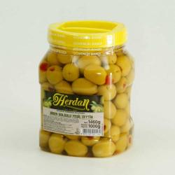 Herdan Green Olives Stuffed With Pepper 1000g