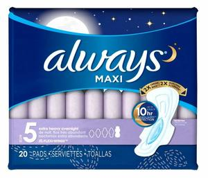 Always Sanitary Pads Extra Protect 14s