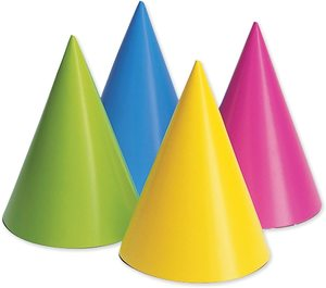 Creative Convert Iridescent Cone Hat 1pc
