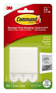 3M Command Medium Picture Hanging Strips 1pc