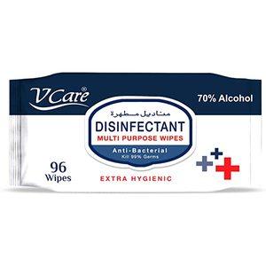 V Care Disinfectant Multi Purpose Wipes 2x96s