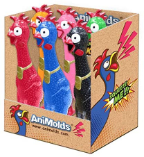 Animolds Squeeze Me Chicken Assorted 33cm 1pc
