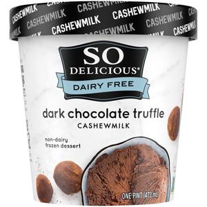 Danone So Delicious Dairy Free Ice Cream Dark Chocolate Truffle 16oz