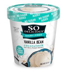 Danone So Delicious Dairy Free Ice Cream Coconut Vanilla Bean 16oz