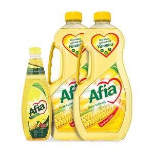 Afia Corn Oil 2x1.5L + 750ml