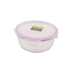 Homeway Round Glass Food Container 1pc