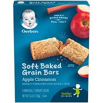 Gerber Toddler Grain Bars Apple Cinnamon 156g