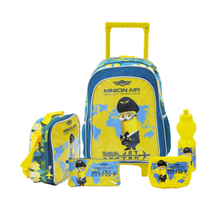 Universal 5 In 1 Set 16 Inch Trolley, Lunch Bag, Pencil Case, Lunch Box, Squeeze Bottle 1set