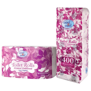 Cool & Cool Toilet Roll 10x140x2Ply 1roll