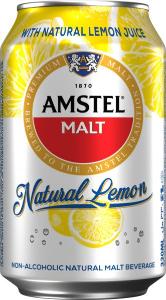 Amstel Non Alcohol Malt Beverage Lemon 330ml