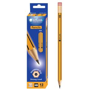 Atlas Hb Pencil + Eraser 12s