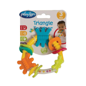 Playgro Triangle Rattle Gn New Design 1pc