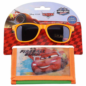 Disney Cars Kids Boys Sunglasess With Wallet Set 1pc