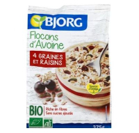 Bjorg Organic Oat Flakes With Seeds And Raisins 375g
