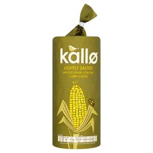 Kallo Organic Corn Cakes Thin Lightly Salted 130g