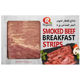 Rayants Angus Beef Breakfast Smoked Strips 180g