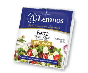 Lemnos Feta Cheese 2x100g