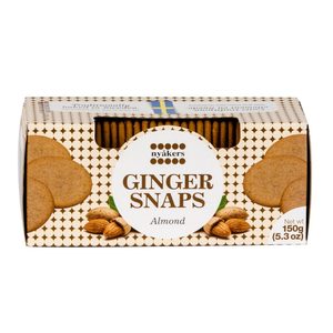 Nyakers Ginger Snaps Cookies Almond 150g