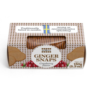 Nyakers Ginger Snaps Cookies Cranberry 150g
