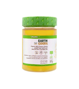 Earth Goods Organic Honey Glass Jar Large 400g