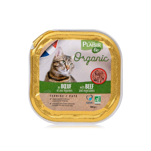 Plaisir Bio Cat Food Terrine With Beef And Vegetable 100g