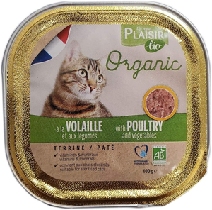 Plaisir Bio Cat Food Terrine With Poultry And Vegetable 100g