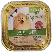 Plaisir Bio Dog Food Terrine With Beef And Vegetable 150g