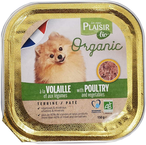 Plaisir Bio Dog Food Terrine With Poultry And Vegetable 150g