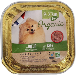 Plaisir Bio Dog Food Terrine With Beef And Vegetable 300g