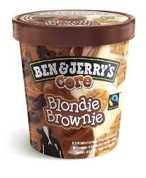 Ben & Jerry's Ice Cream Blondie Brownie Core 465ml