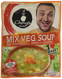 Chings Instant Soup Mix Vegetables 55g