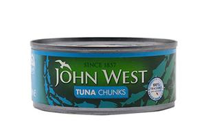 John West Light Meat Tuna Chunks In Brine 2+1x170g