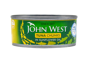 John West Light Meat Tuna Chunks In Sunflower Oil 2+1x170g