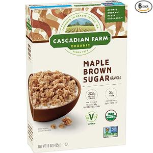 Cascadian Farm Organic Granola Maple Brown Sugar 425g
